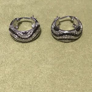 Jewelry - Finesque Diamond Accent Braided Hoop Earrings